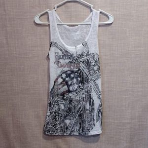 Harley Davidson Tank With Bling Size M